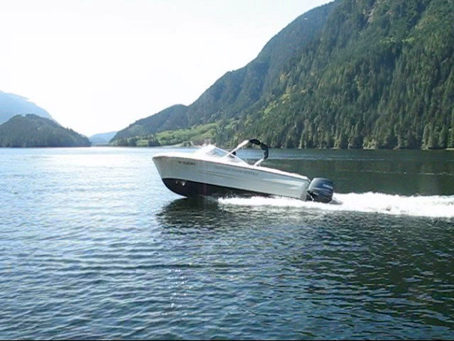 17ft hourston rental boat out on the water