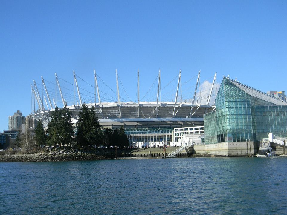 Rental boat at BC Place