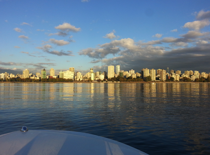 Sunny Day in Vancouver by rental boat