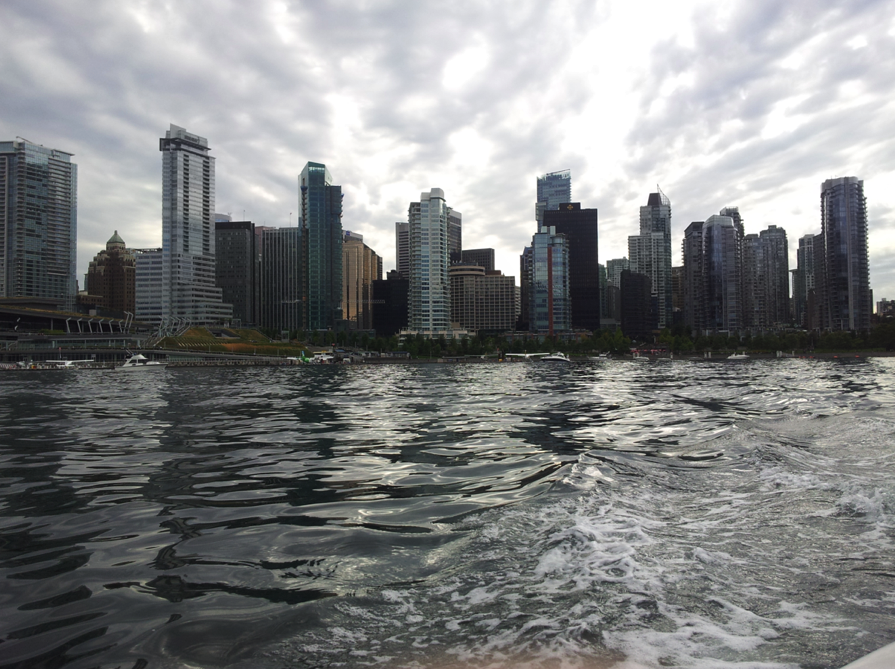Rental boat in Coal Harbour Vancouver
