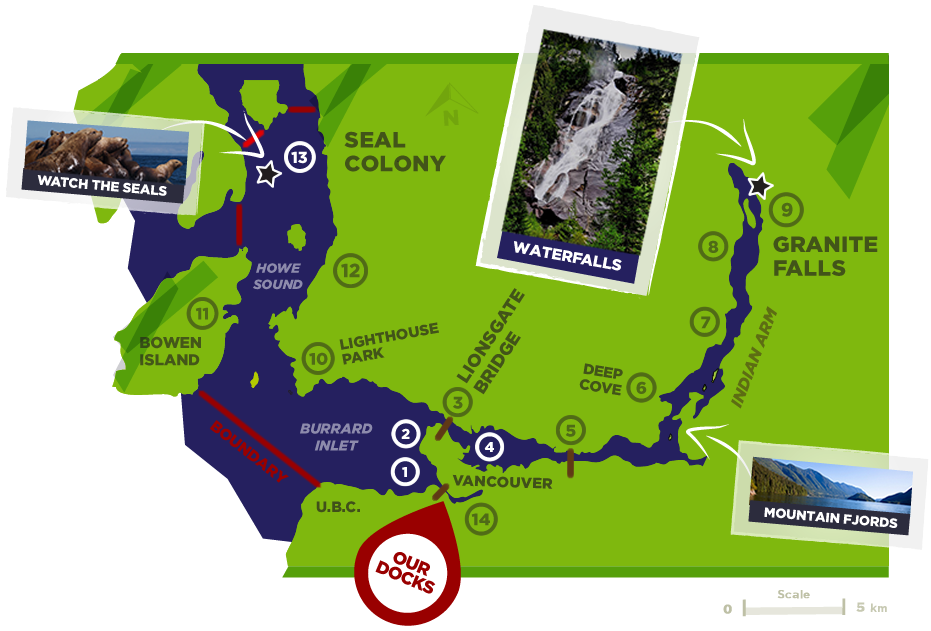 boat rental map vancouver