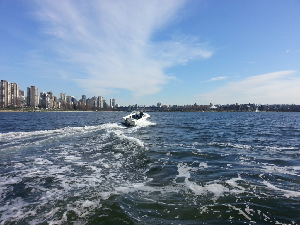 A Day on the water on a 17ft boat vancouver