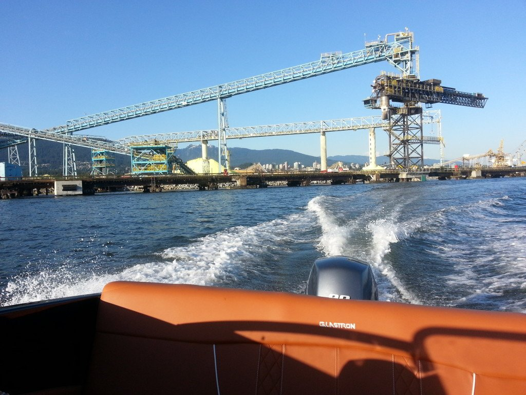 18ft boat at vancouver industrial port