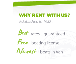 Why rent with us boat rentals